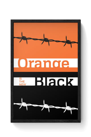 Orange Is The New Black Minimal Framed Poster Online India