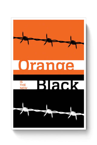 Orange Is The New Black Minimal Poster Online India