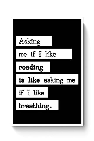 Book Lovers - Reading is Breathing Poster Online India