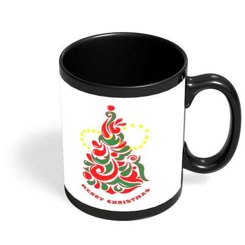 Christmas_tree Black Coffee Mug Online India