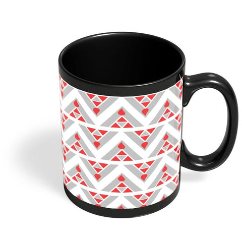 Triangles Ups and downs Black Coffee Mug Online India