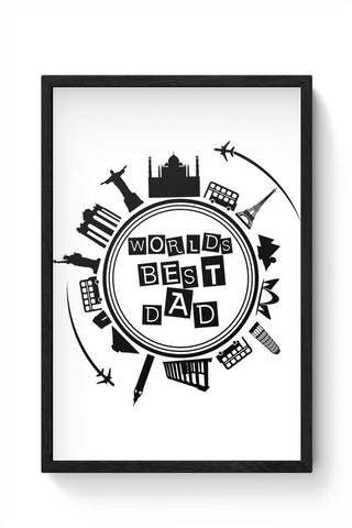 Worlds Best Dad Framed Poster Online India
