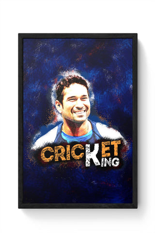 CRICKET KING Framed Poster Online India