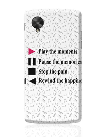 Life Is Like Music Google Nexus 5 Covers Cases Online India