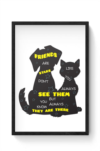 """FRIENDS"" Are Like Stars Framed Poster Online India"