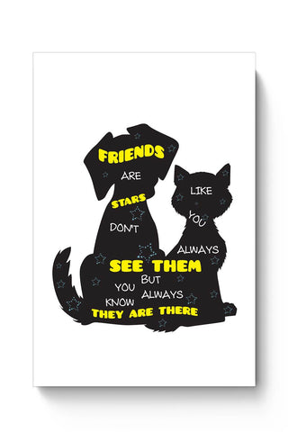 """FRIENDS"" Are Like Stars Poster Online India"