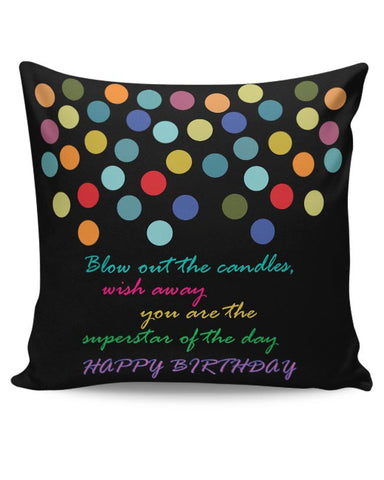 "Superstar ""Happy Birthday"" Cushion Cover Online India"