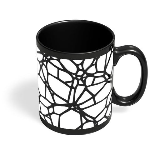 Abstract Trap Pattern Black Coffee Mug Online India