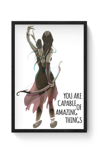 Amazing Things Framed Poster Online India