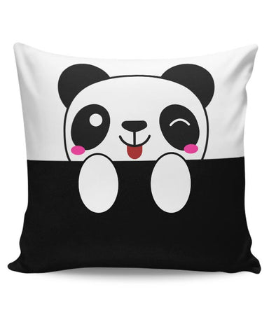 peek a boo  panda Cushion Cover Online India