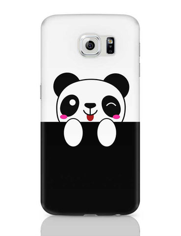 peek a boo  panda Samsung Galaxy S6 Covers Cases Online India