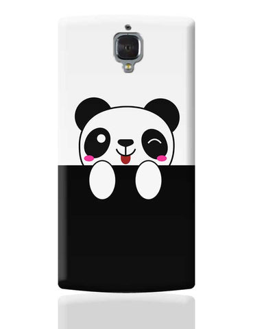 peek a boo  panda OnePlus 3 Covers Cases Online India