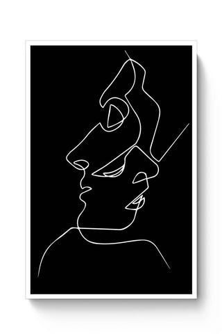 Buy Abstract Two Faces Art Poster