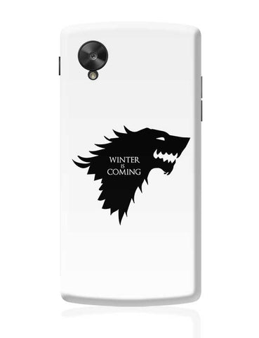 Winter is coming Google Nexus 5 Covers Cases Online India