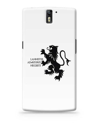 Lannister Always Pays His Debts OnePlus One Covers Cases Online India