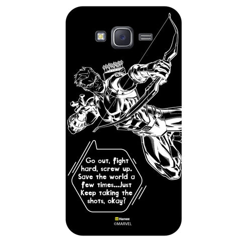 Hawkeye Quoteblack  Samsung Galaxy J5 Case Cover
