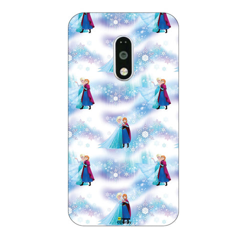 Disney Princess Frozen. ( Anna Elsa Pattern 2 )  Moto G4 Plus