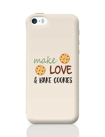 Make, love and bake Cookies iPhone 5/5S Covers Cases Online India