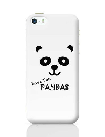 I LOVE PANDAS iPhone 5/5S Covers Cases Online India