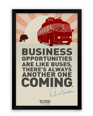 Framed Poster | NASSCOM 10000 Startups 'Richard Branson' Quote Matte Laminated Framed Poster PosterGuy.in