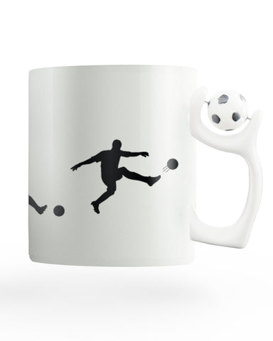 Evolution of Man and Football Rotating Mug