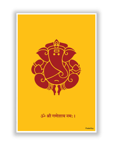 Buy Posters Online | Shree Ganeshji Religious Poster | PosterGuy.in