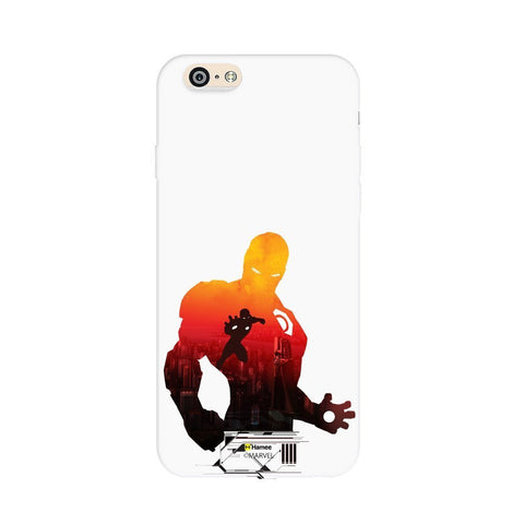 Red Shadow Iron Man  White Apple iPhone 6S/6 Case Cover