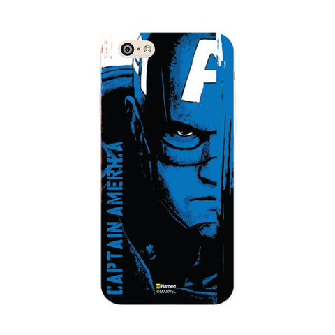 Face Captain America  Blue Apple iPhone 6S/6 Case Cover