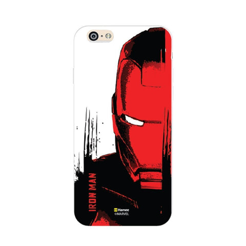 Face Iron Man  Red Apple iPhone 6S/6 Case Cover