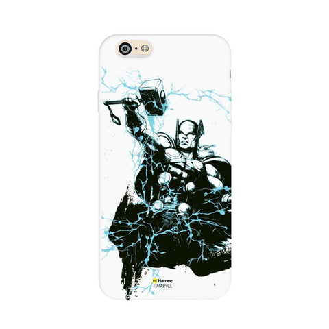 Illustrated Thor  White Apple iPhone 6S/6 Case Cover