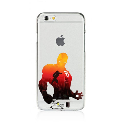 Red Shadow Iron Man  Clear Apple iPhone 6S/6 Case Cover
