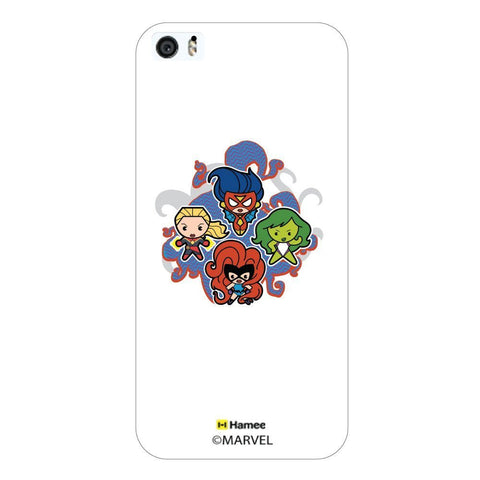 Cute Marvel Comic Girls White iPhone 5S/5 Case Cover