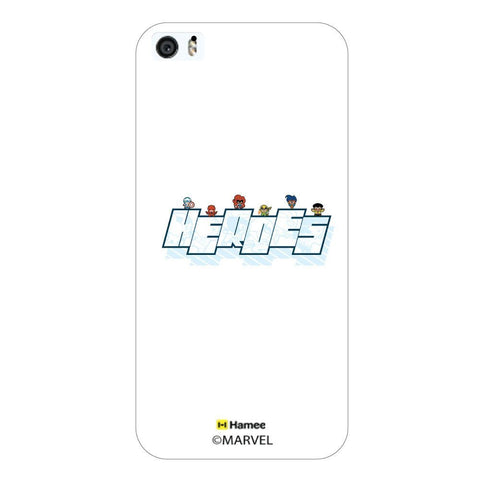 Cute Heroes Avengers White iPhone 5S/5 Case Cover