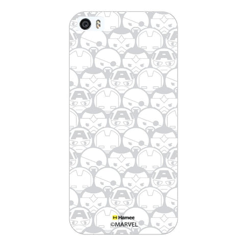 Gray Avengers Superheroes White iPhone 5S/5 Case Cover