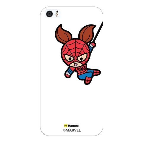White  Cute Spiderwoman Apple iPhone 5S/5 Case Cover
