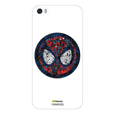 White  Spiderman Doodle Apple iPhone 5S/5 Case Cover