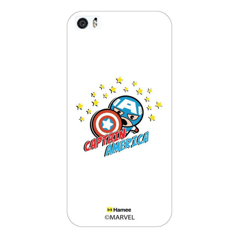 White  Cute Captain America Stars Apple iPhone 5S/5 Case Cover