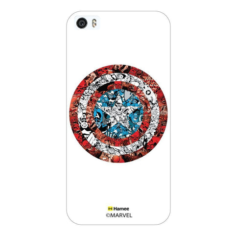 White  Captain America Doodle Shield Apple iPhone 5S/5 Case Cover