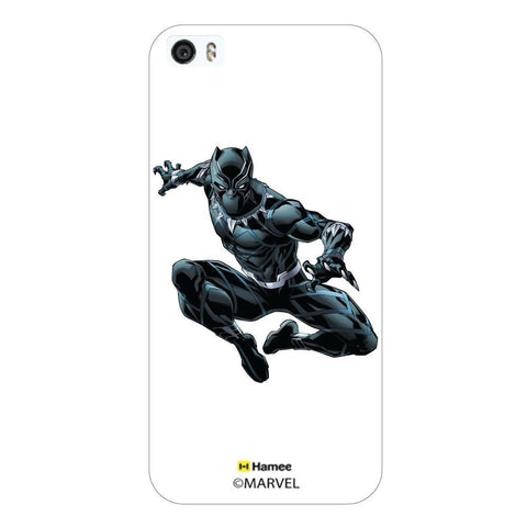 White  Black Panther Jump Apple iPhone 5S/5 Case Cover