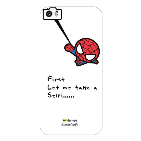 Cute Spiderman Selfie White iPhone 5S/5 Case Cover