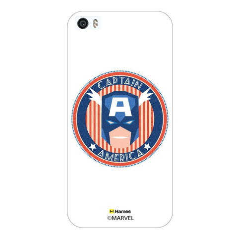 White  Captain America Round Deco Apple iPhone 6S Plus/6 Plus Case Cover