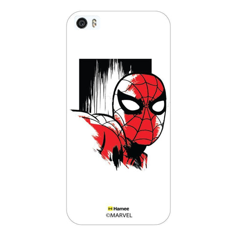 White  Spiderman Sketch Face Apple iPhone 5S/5 Case Cover