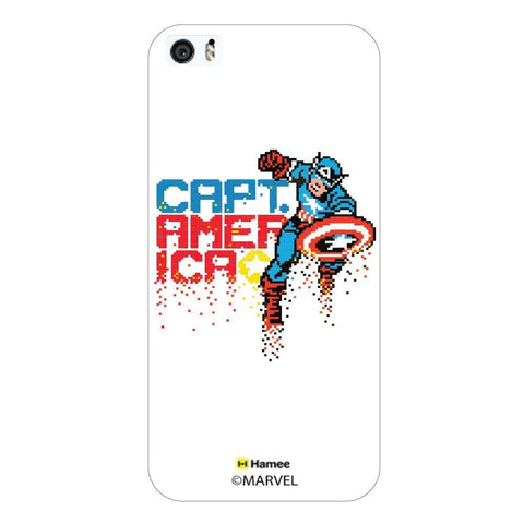 White  Captain America Pixels Apple iPhone 5S/5 Case Cover