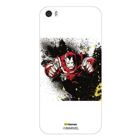 White  Iron Man Colour Splash Apple iPhone 5S/5 Case Cover