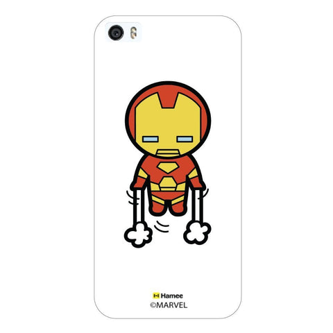 Cute Iron Man Lift Off White iPhone 5S/5 Case Cover