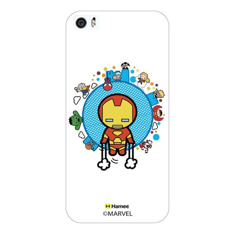 White  Cute Avengers World Apple iPhone 5S/5 Case Cover