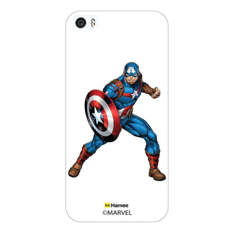 White  Captain America With Shield Apple iPhone 5S/5 Case Cover