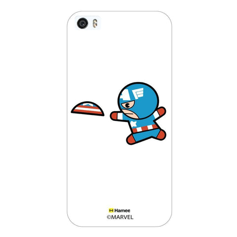 White  Cute Captain America Apple iPhone 5S/5 Case Cover