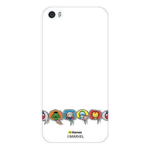 Cute Avengers Speech Bubble White iPhone 5S/5 Case Cover