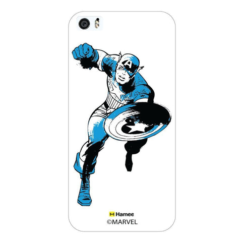 Captain America Blue Wash White iPhone 5S/5 Case Cover